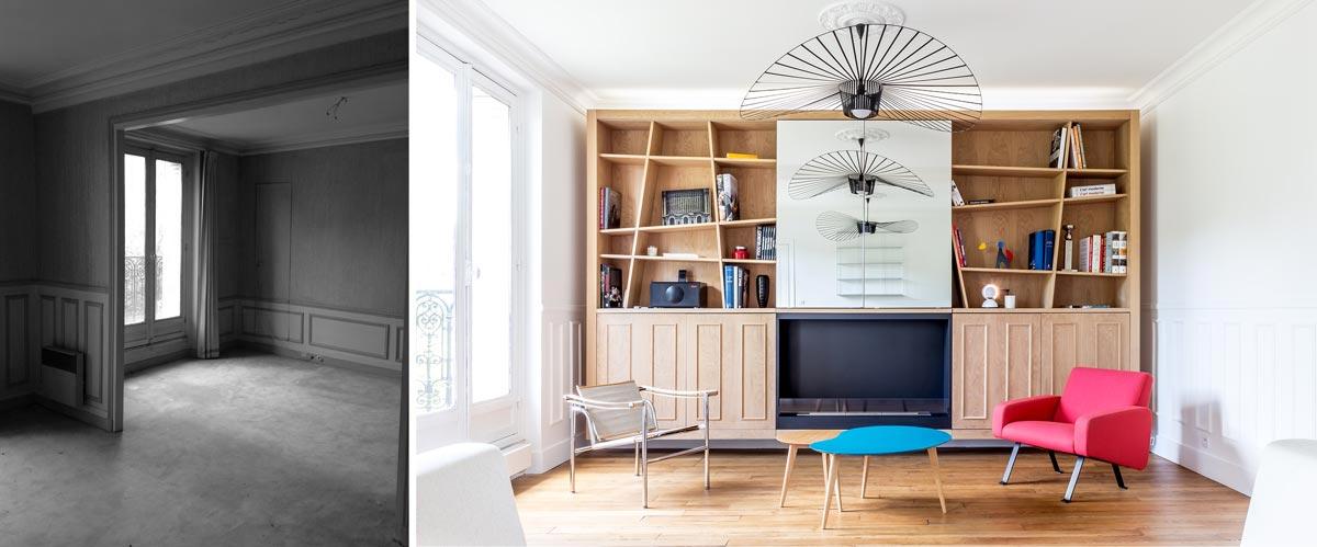 r novation d 39 un appartement 3 pi ces par un architecte d 39 int rieur aix en provence. Black Bedroom Furniture Sets. Home Design Ideas