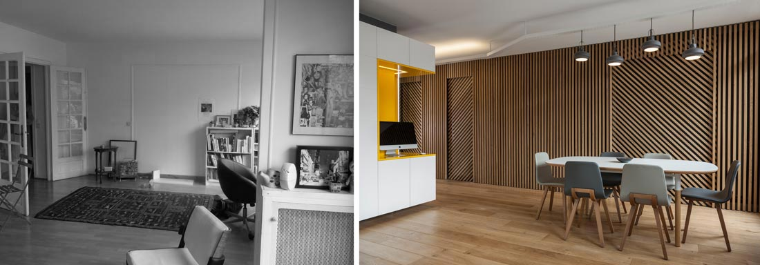 Rnovation DUne Appartement  Pices Par Un Architecte DIntrieur