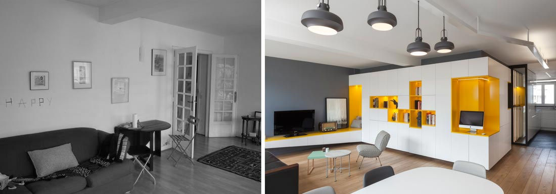 Rnovation DUne Appartement  Pices Par Un Architecte DIntrieur