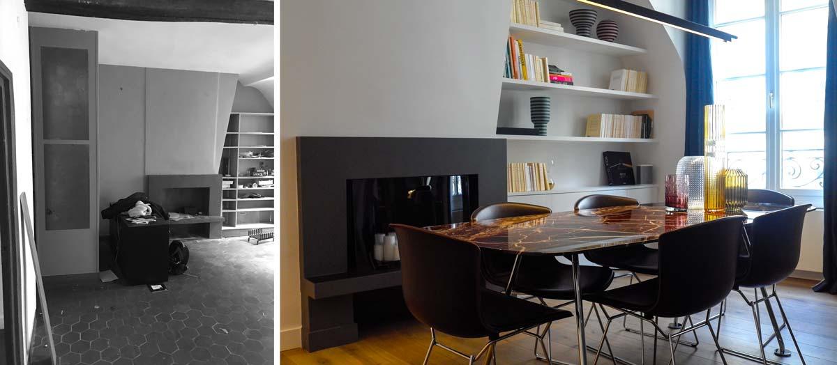 Avant - Après : aménagement cuisine d'un appartement familial