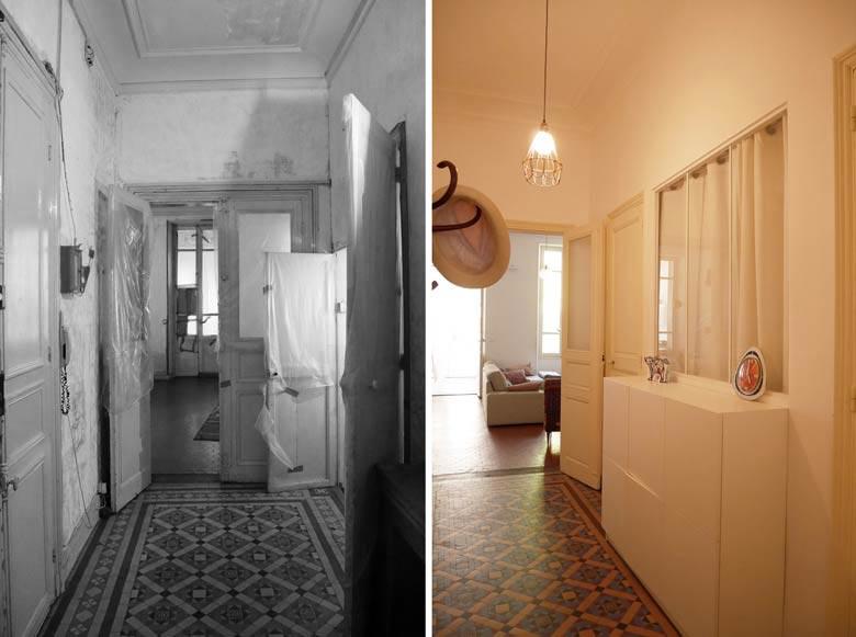 r novation d 39 une maison de ville marseille par un architecte d 39 int rieur. Black Bedroom Furniture Sets. Home Design Ideas