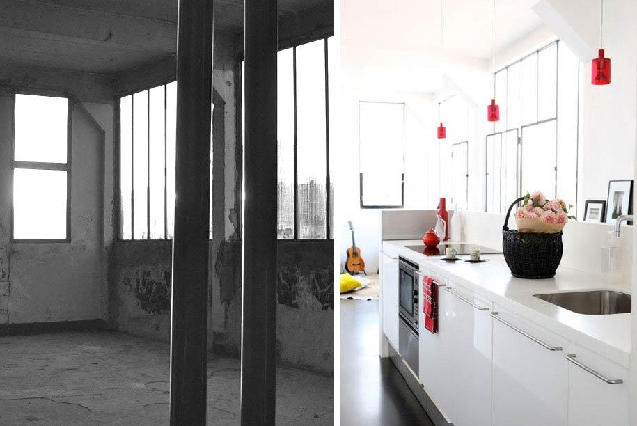 Avant - Aprés : Rénovation d\'un loft au design contemporain de 150m2