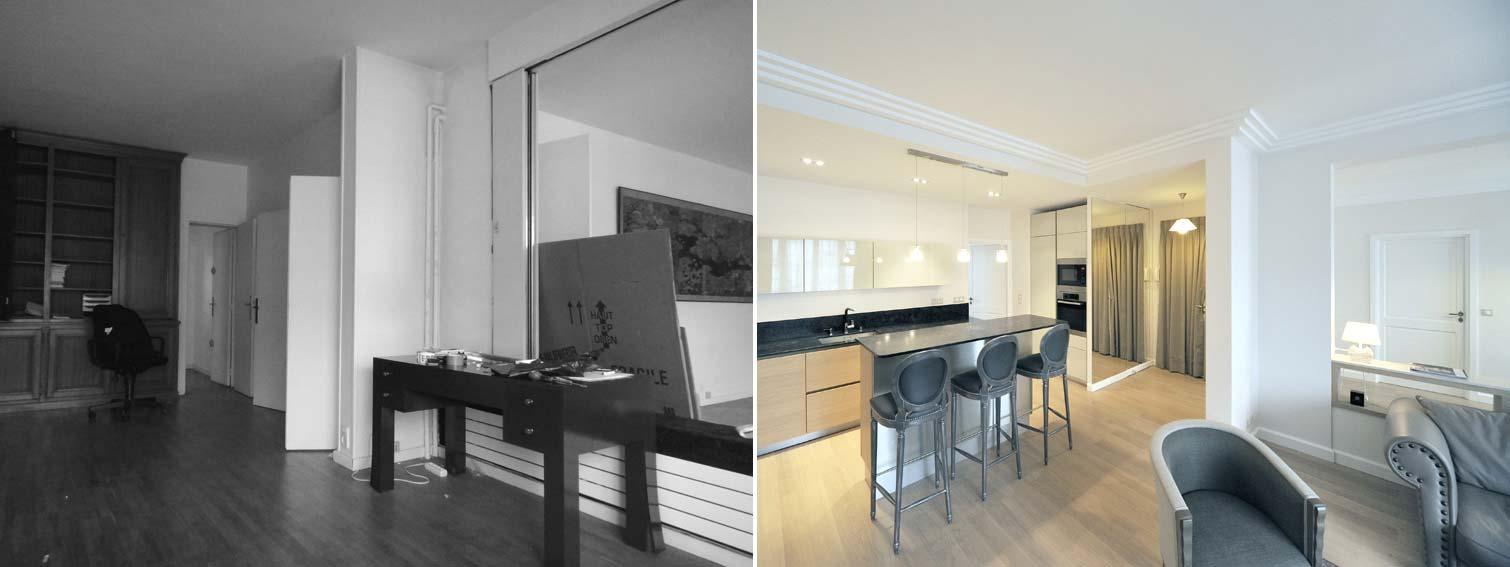Relooking Appartement Avant Après avant - aprés : transformation d'un bureau en appartement de