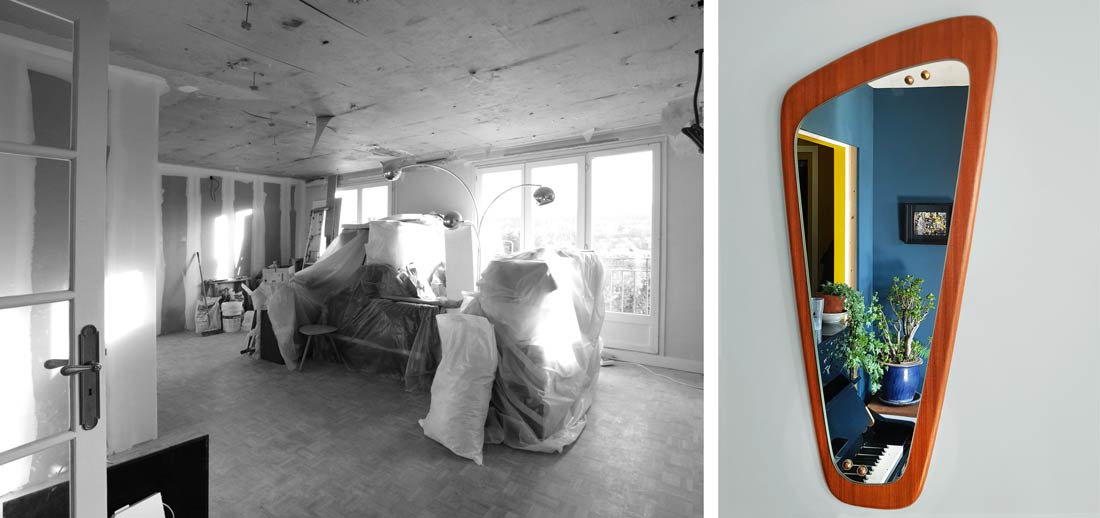 Avant - Après : choix de décoration industriel dans le cadre de ces travaux d'aménagement