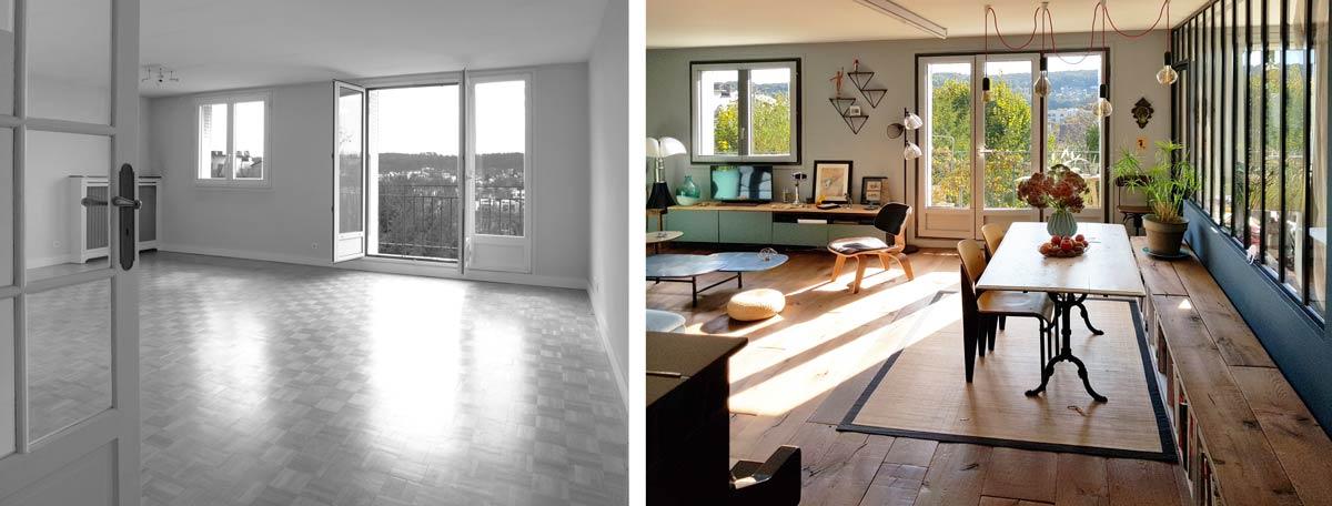 Optimisation de la lumière naturel dans un appartement des années 60