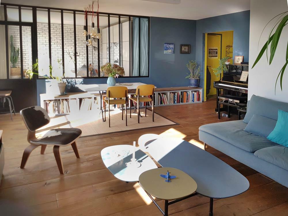Rénovation d'un appartement de 70m2 par un architecte d'intérieur rville