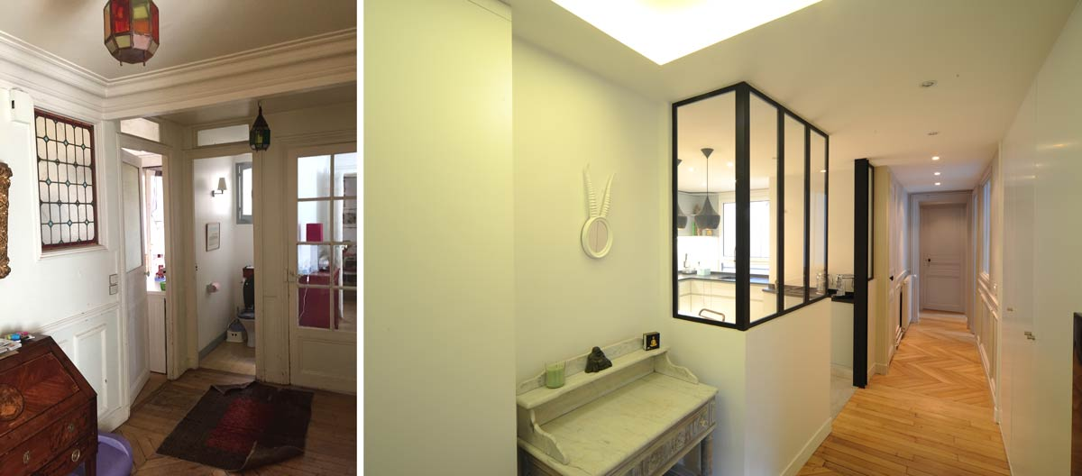 Rénovation d'une appartement par un architecte d'intérieur