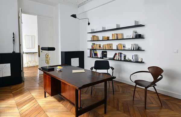 Makeover of a 110m² Haussmann apartment