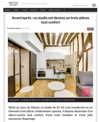 Couverture magazine Maison à part