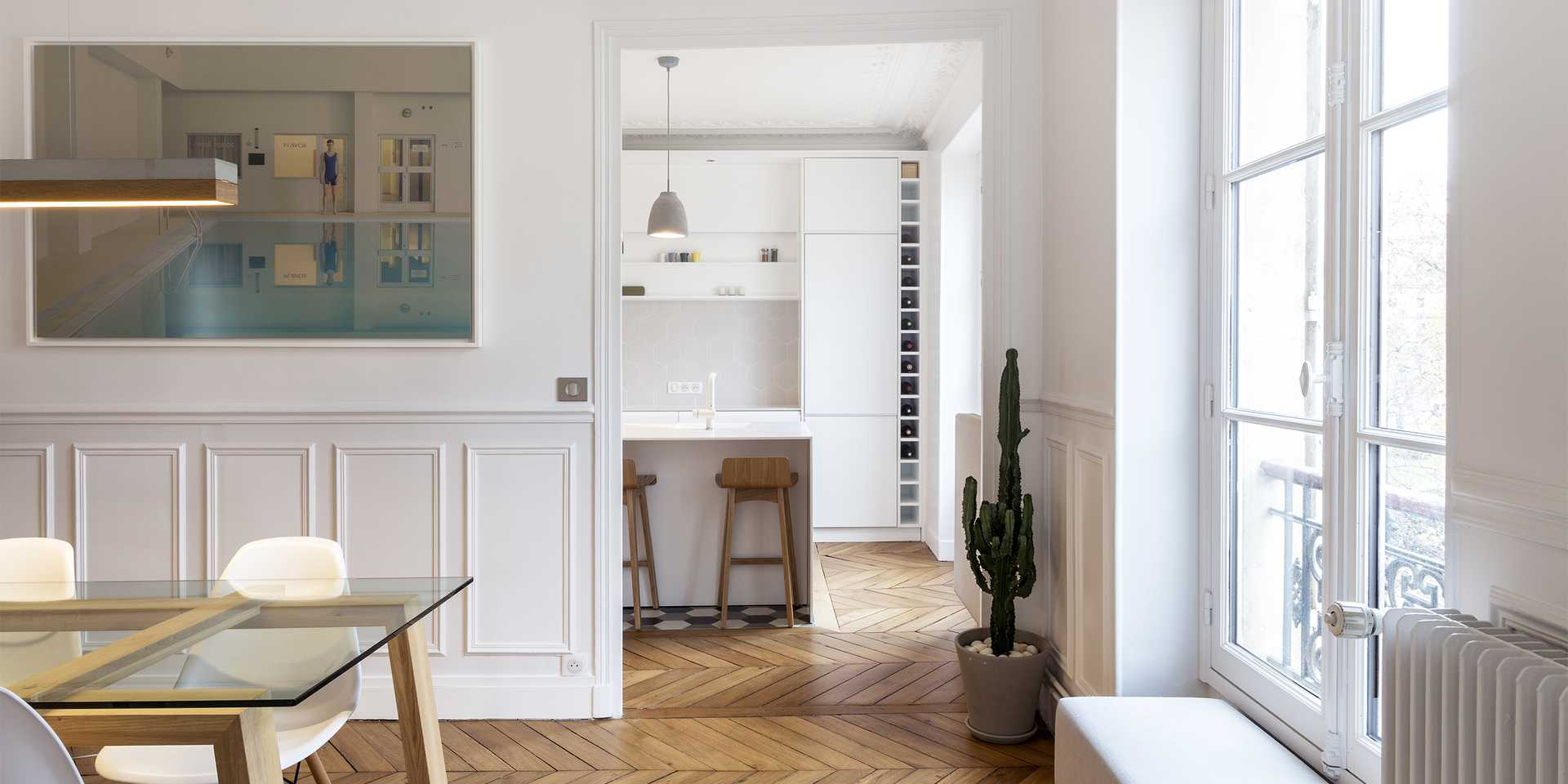 Haussmannian apartment redesigned by an architect in Aix-en-Provence